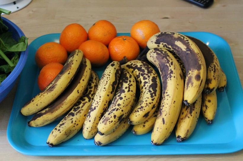 und immer schön reif die Bananen