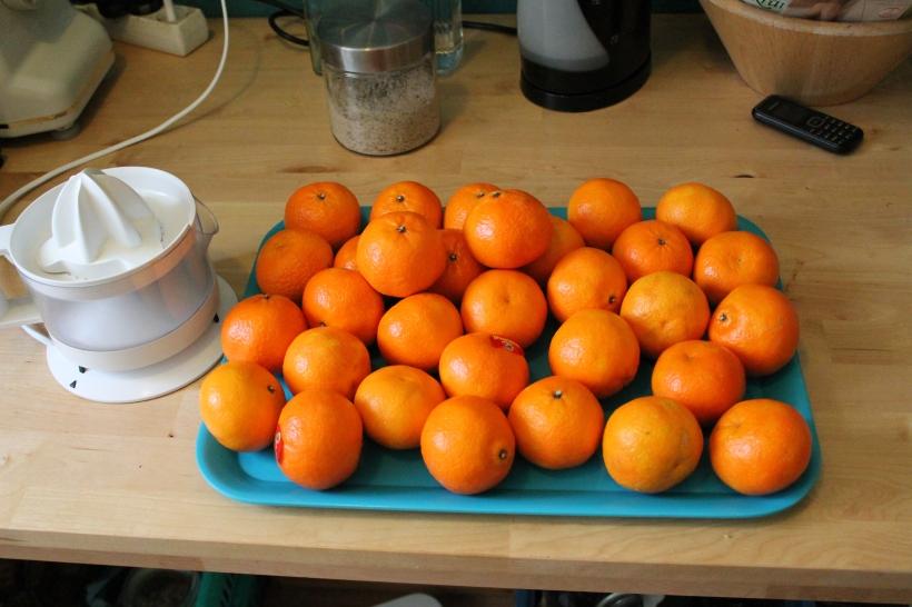 und doch noch ein paar Mandarinen dazugetan