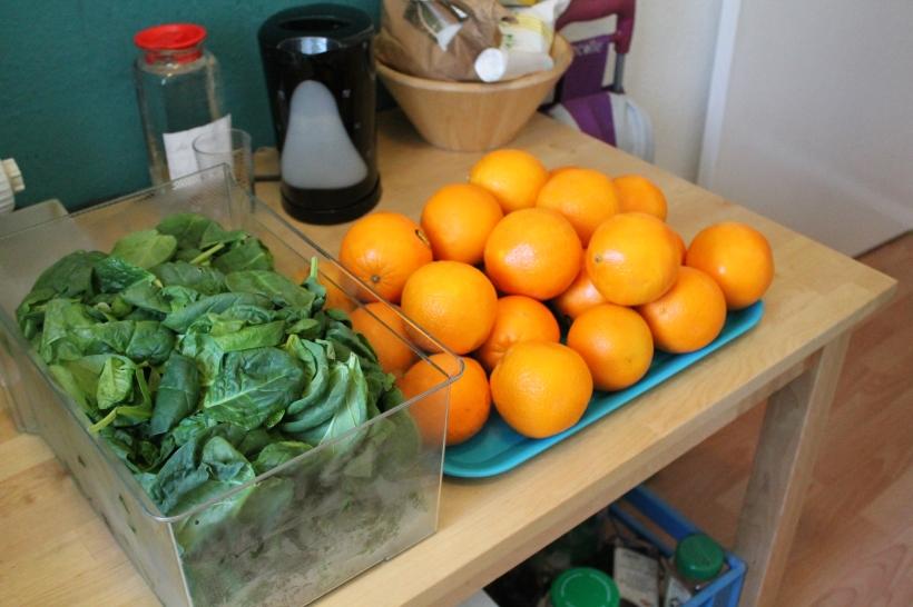 1 Kilo Spinat und 30 Orangen