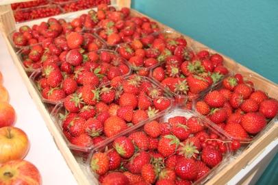 Erdbeeren waren auch sehr gut, super sweet
